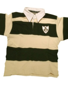 Polo Rugby Jr -  Crema/Verde