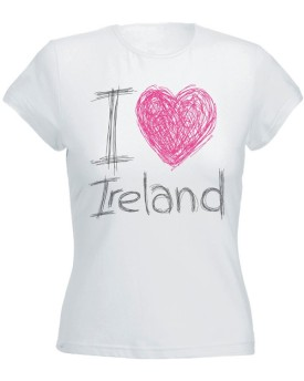 T-Shirst Bianca da Donna - I Love Ireland