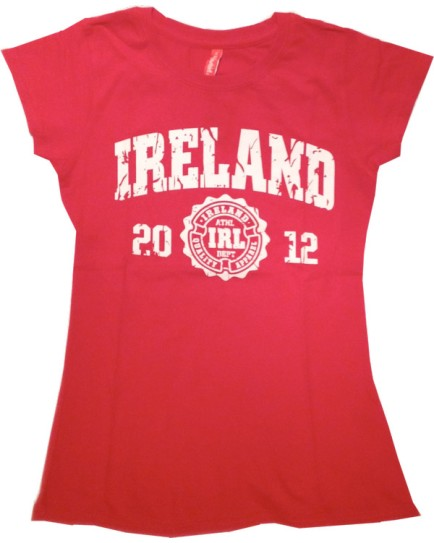 T-Shirt Rossa da Donna – Campus Ireland