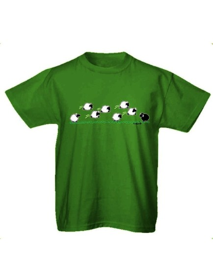 T-shirt verde Sheep Jumping