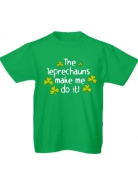 T-shirt verde Leprechaun Make Me Do It