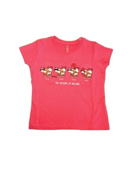 "T-shirt Rosa ""The season of Ireland"" Cows"