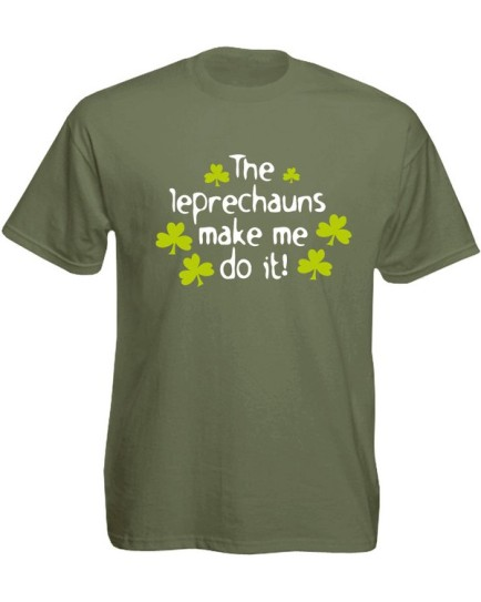 T-Shirt verde oliva - Leps Make Me Do It