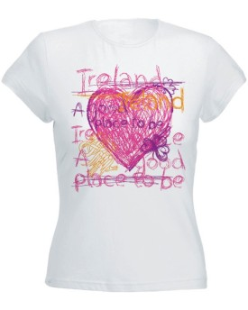 T-Shirt Bianca da Donna - Place to Be - Hart