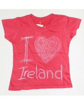 T-Shirt rosa I Love Ireland