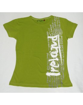 T-shirt Donna Verde Graffiti Ireland