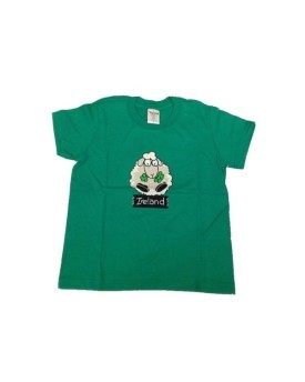 T-shirt Green con White Sheep