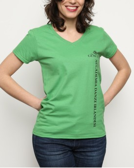 "T-Shirt Woman ""Official Gens d'Ys Academy"" Green"
